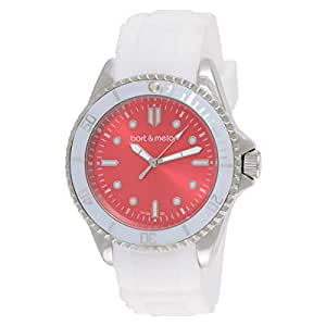 Bart & Melon Women's Analog Silicone Watch - 12NL010WtRd