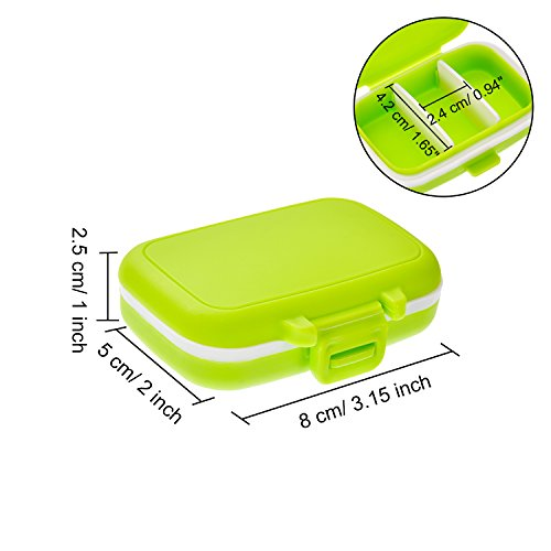 Jovitec Pill Cases 3 Removable Compartments Plastic Waterproof Pill Box Case Organizer Medicine Holder for Daily and Travel Use (8 Pieces) by Jovitec (Image #4)