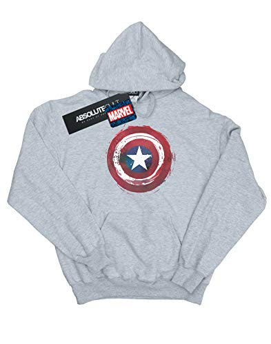 Marvel Captain cappuccio Boy America Grigio Splatter con Shield Felpa Sport xvnEwT7Uq