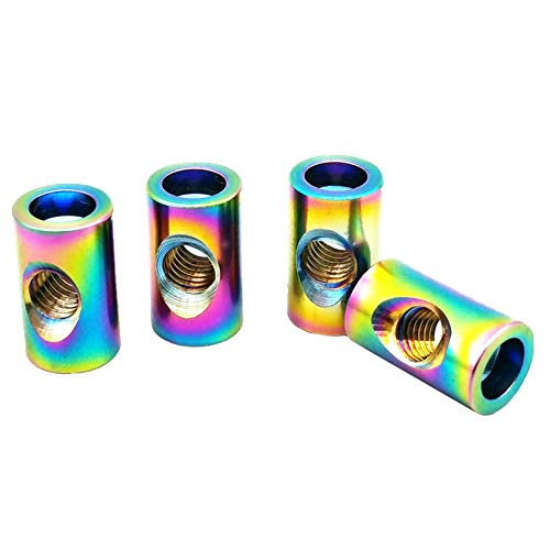 Seatpost Shaft - Ochoos Titanium Nut Seat Tube Nut M5 M6 x13.5/15.5/18mm Steel/Gold Multicolor Color Titanium Screw Ti Fastener 4/6pcs - (Dimensions: M6Length18Dia9mm, Color: Gold Color, Thread Diameter: 4 Pieces)