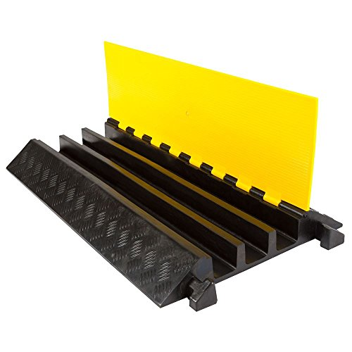 Dh Wire - Guardian Industrial Products DH-CP-4 3 Channel Rubber Cable Ramp (Straight)