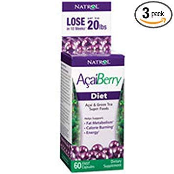 Acai Diet Caps By Natrol - 60 Capsules, 3 Pack