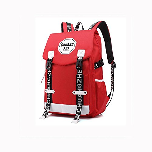 inches red Student Backpack School Leisure 14 Waterproof Rucksack Laptop Bag Polyester Oq7Zn