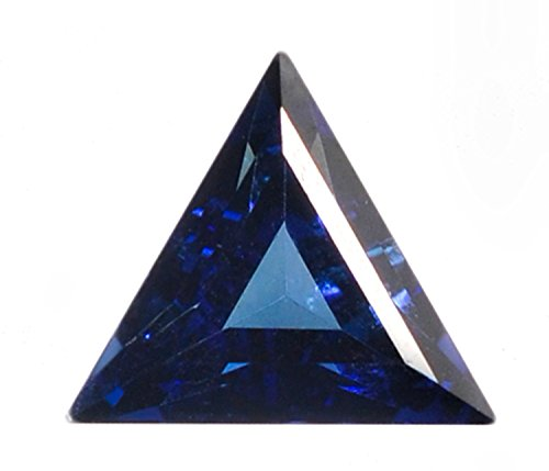 Blue Synthetic Sapphire Facet Triangle 11mm - Sapphire White Cufflinks