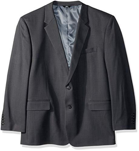 Haggar Men's Tall B&T Stria Tic Stretch Classic Fit Suit Separate Coat, Dark Grey Heather 52S