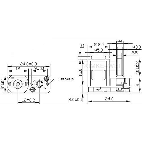 N20 3V//6V//12V DC 15-4000RPM U-Typ Inversion Speed Reduction Gear Box Motor New