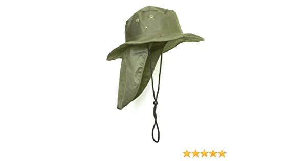5d350297 Top Headwear Safari Explorer Bucket Hat With Flap Neck Cover - Olive at  Amazon Men's Clothing store: Small Safari Hat