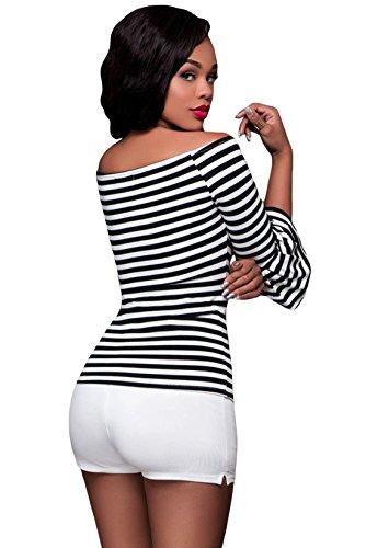 Mela Proibita - Camiseta sin mangas - para mujer negro - blanco