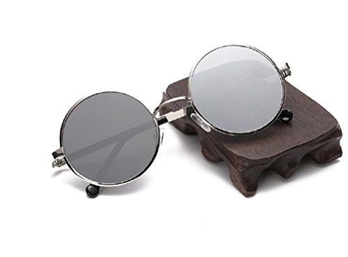 Born Beauty retro sunglasses flat circular metal color film Prince sunglasses - Sunglasses Lens 3 Prince