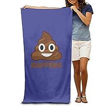 Poop Happens Emoji Adult Beach Towel