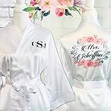 Personalized Bridal and Bridesmaid robes, Silk Bridesmaid robes