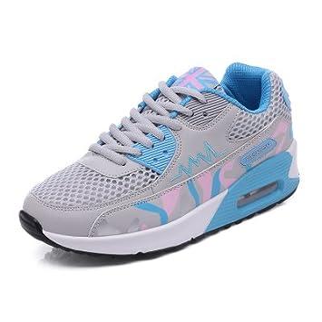 La mujer aumentando la altura de zapatillas sneakers Lace-Up transpirable malla femenino de la luz de la Plataforma de Mujeres deporte calzado de exterior: ...