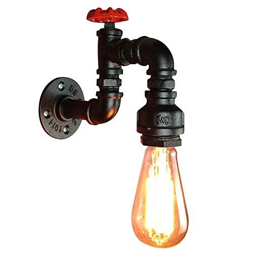 (Retro Industrial Wall Light Classic Water Pipe Shape Iron Paint Process E27 Lamp Holder AC 110V - 220V Suitable For Loft, Kitchen, Bedroom, Cafe Decoration Lights)
