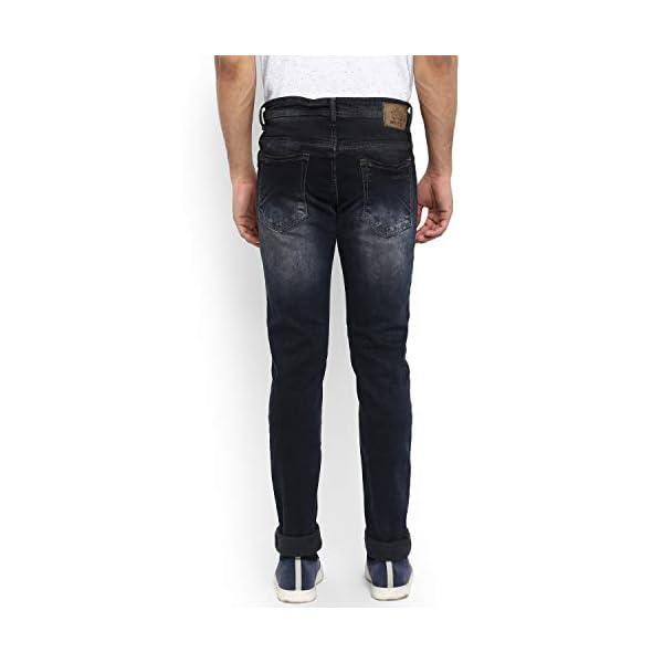 Mufti Blue Dark Super Slim Free Spirted Indigo Jeans 2021 July Fit Type: Slim Material Composition: 98% COTTON 2% Elastane Mid Rise