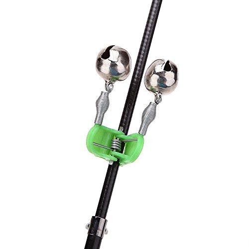 Hillside fire 5pcs lot fishing alarm bell clip on fishing for Fishing rod bells