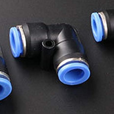 WOVELOT Connecteur Rapide DAmarrage /à Connexion Rapide /à 90 degr/és de Type L,Connecteur Rapide de Coude /à Angle Droit,Connecteur Rapide Pneumatique Noir 8 mm