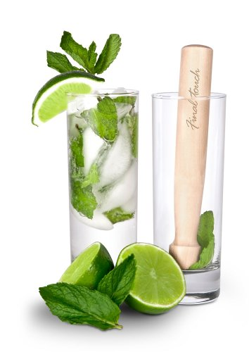 (Final Touch FTA1835 Glass and Wood Mojito Set )