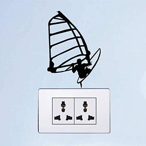 Windsurfen Surfen Zeilen Vinyl Licht Schakelaar Decals Muurstickers 3 Ps