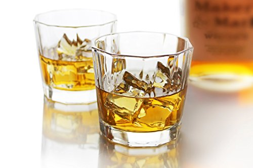 Old Scotch (Summit One Old Fashioned Whiskey Drinking Glasses 10 Ounce, Set Of 4 Lead-Free Drink Tumblers For Scotch, Bourbon or Cocktails With Heavy Base & Wide Mouth)