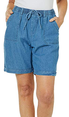 Shorts On Drawstring Pull - Erika Womens Riley Pull On Drawstring Shorts Medium Neptune Blue