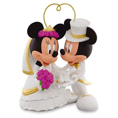 Hallmark I Do Times Two Mickey and Minnie Porcelain Wedding Ornament Wedding Anniver... (Wedding Porcelain)