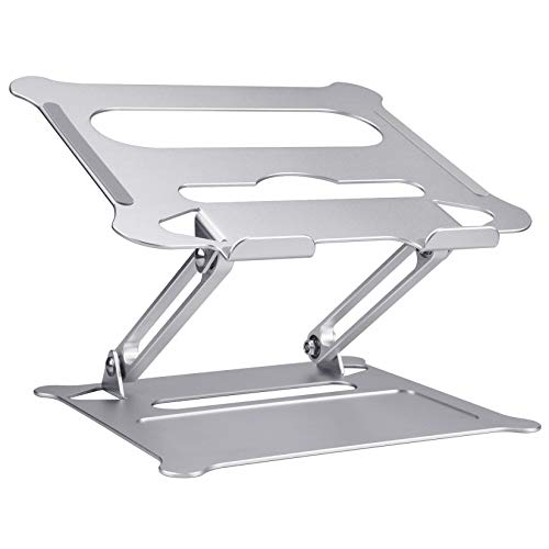 Laptop Stand Smartelf Ergonomic Aluminum Desktop Stand Adjustable Notebook Stand for MacBook Pro Air/Dell/HP/Lenovo Raised up Holder Ventilated Computer Cooling Stands for All Laptops 10-17