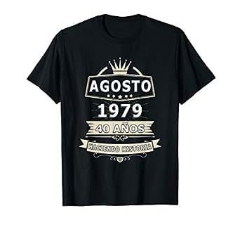 Amazon.com: Camisa De Cumpleanos 40 Anos Agosto 1979 in ...