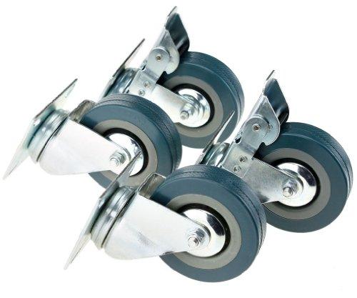 4tlg 75mm Transportrollen Jeder 30kg Rollen Schrankrollen Drehenrollen