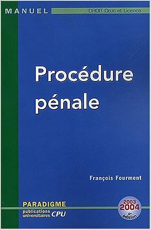En ligne téléchargement gratuit Procédure pénale pdf, epub
