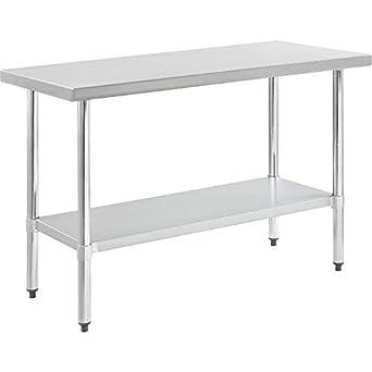 Amazon.com: nexel worktable de acero inoxidable con estante ...