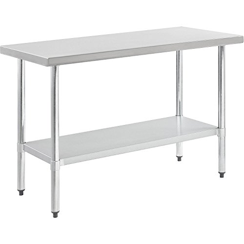 Nexel WB7230SS Stainless Steel Worktable With Under shelf, 72''W x 30''D x 35''H by Nexel