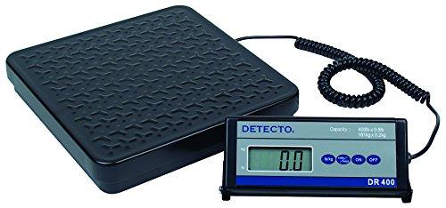 Detecto DR400 Portable Digital Receiving Scale,12'' x 12'', 400 lb. Capacity by Detecto