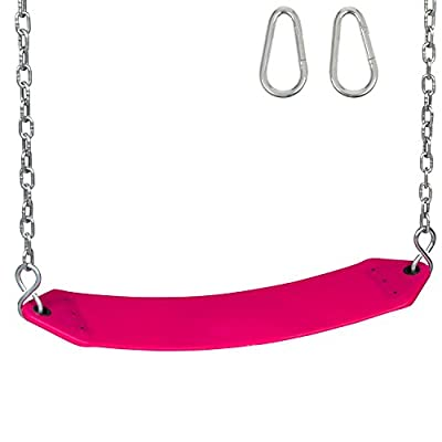 Swing Set Stuff Residential Belt Seat with Chains and Hooks and SSS Logo Sticker Playground Accessory, Pink: Toys & Games