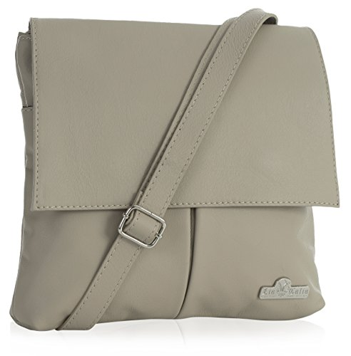 Real Leather Hazel Soft Crossbody LIATALIA Italian Taupe Womens Light Messenger Shoulder Handbag ZxwqII5z