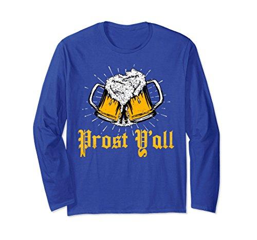 Unisex Prost Y'all Shirt Germany Beer Steins Munich Bavarian 2XL Royal ()