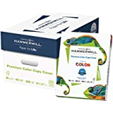 Hammermill Paper, Premium Color Copy Cover Cardstock 8.5 x 11 Paper, Letter Size, 80lb Paper, 100 Bright, 8 Packs / 2,000 Sheets (120023C) Heavy Paper, Card Stock White