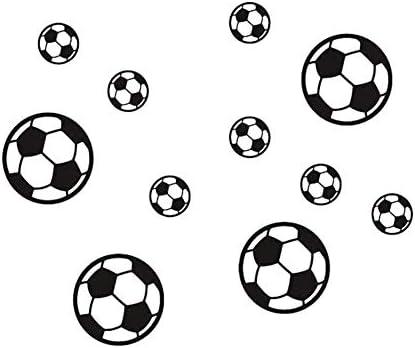 xiegons0 12pcs / Juego Balones de Fútbol Adhesivo Mural Sticke ...