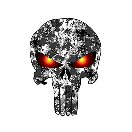 Glumes Skull 3D Sticker, Halloween, Scariest, Removable, Car Side Body Decal, Motorcycle Bicycle Body Sticker, Luggage Decal, Graffiti Patches, Skateboard Stickers, Laptop Stickers, Mural Decor Decal (C) -