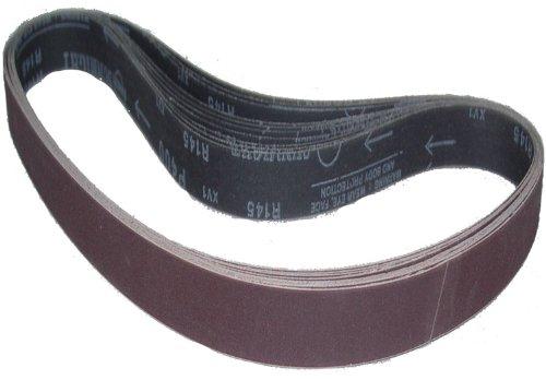 Magnate R1.5X30S40 1-1/2''x30'' Aluminum Oxide Closed Coat Sanding Belt - 400 Grit; X Weight