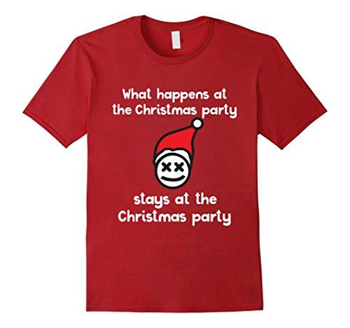 Funny Group Office Costumes (Mens Funny Christmas Party Shirt   Family Group Office Costume Large Cranberry)