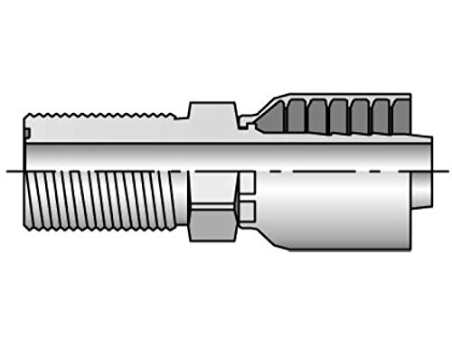 Parker Parkrimp Permanent Male Seal-Lok - Bulkhead without Locknut - Straight JB (with O-Ring)