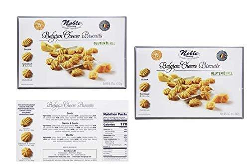 Belgian Cheese Biscuits Gluten-Free (Gouda; Cheddar & Gouda; Cheddar) 8.47 oz (Pack of 2) (Best Cheese Biscuits)