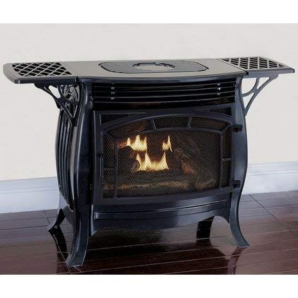 Duluth Forge Dual Fuel Vent Free Model FDSR25-GF, Gloss Finish, Remote Control Gas Stove, Black ()