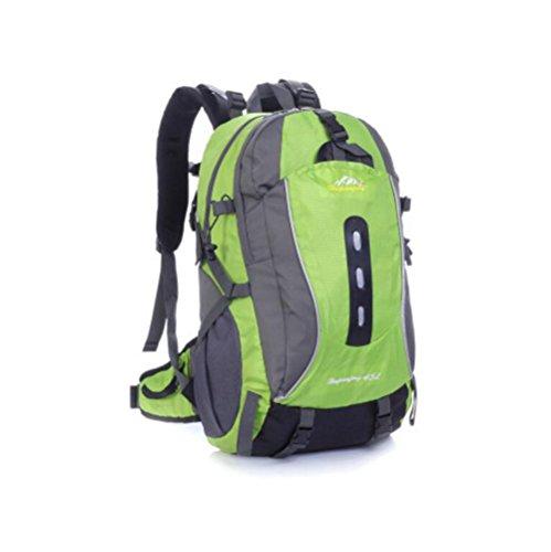 Wmshpeds Excursión de montañismo bolso exterior hombres y mujeres mochila camping caballo paquete de gran capacidad 45L F