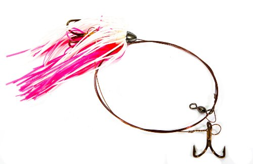 Boone Duster Rig (2# 4 Treble Hook), Pink/White