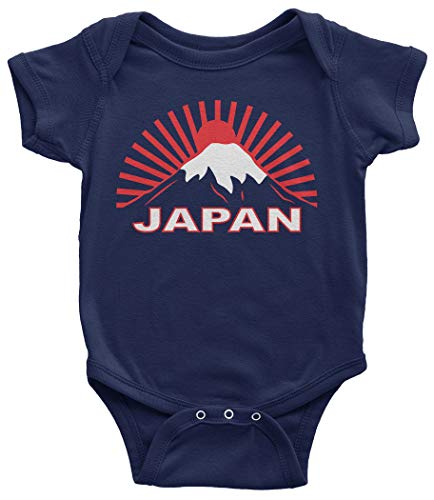 Japan Graphic Tee | Japanese Traditional Flag Infant Bodysuit | 24 Months Navy
