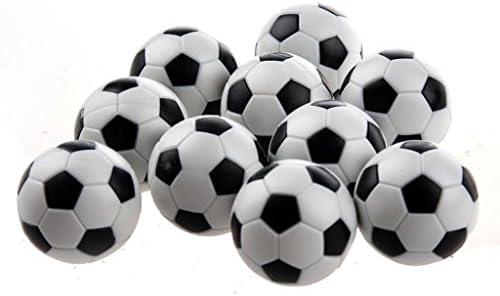 Balones de futbolín de NiceButy, minipelotas de repuesto, de plástico, blancas y negras: Amazon.es: Deportes y aire libre
