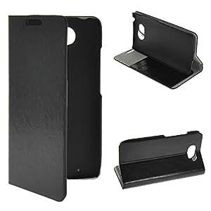 ONEWIND Black Folio Case Ultra Thin Wallet Flip Cover for Motorola DROID Turbo