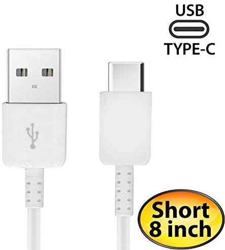 Authentic Short 8inch USB Type-C Cable for Huawei MateBook Also Fast Quick Charges Plus Data Transfer! White