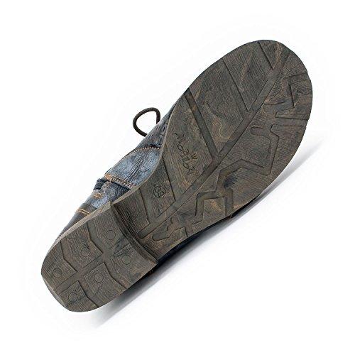 TMA SEELENlook Damen-Schuhe, Echtleder >                     Boots, Stiefeletten, Größen 36-42/43 Perlschwarz